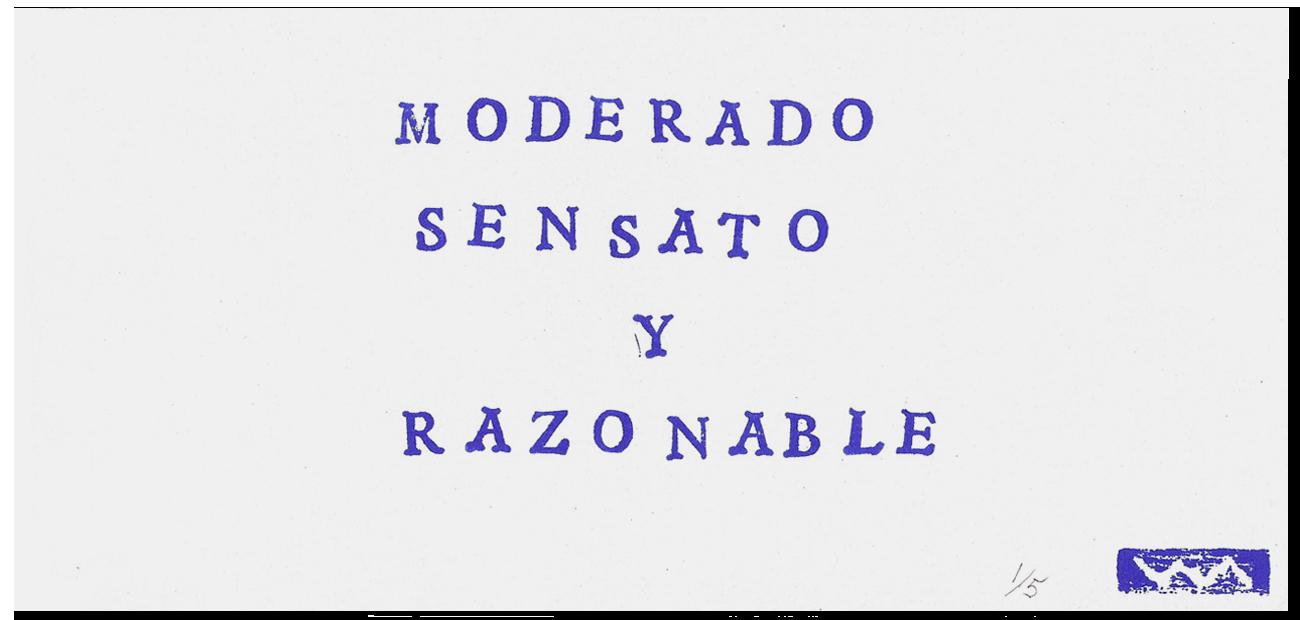 Moderado sensato y razonable