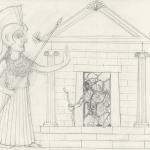 Palas Atenea visita el antro de la Envidia