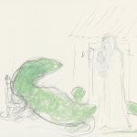 Ceres transforma a un muchacho en lagartija