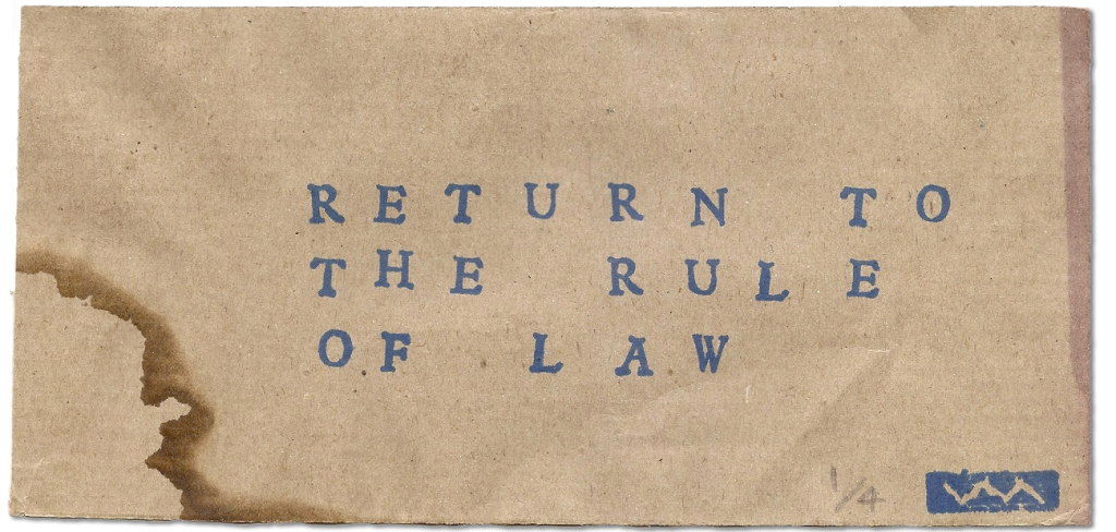 Return to the rule of law