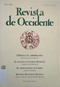 Revista de Occidente. Nº 264