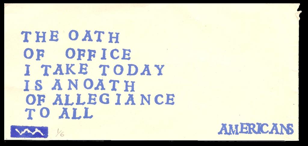 The oath...