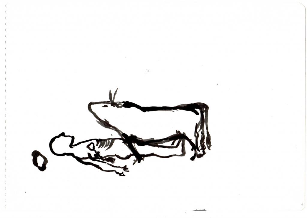 9.- Cuando el Toro infringe una herida (una ley) enloquece de soledad, embiste a su cadáver, celoso, y brama.