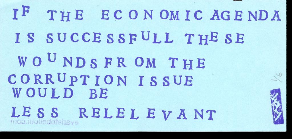 If the economic agenda...